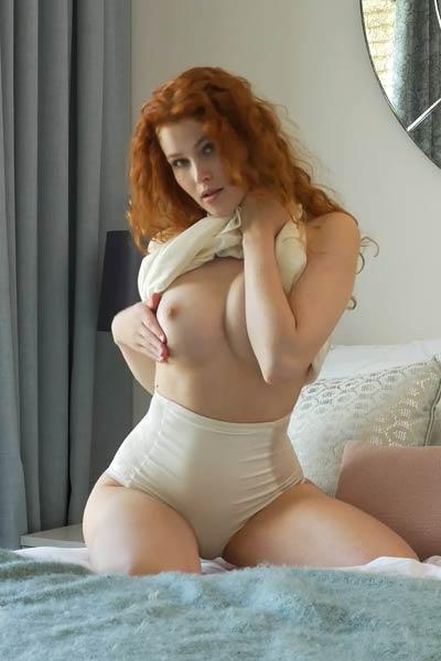 Model Heidi Romanova in Ginger Babe