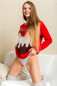 Model Elina De Leon in Christmas Cutie