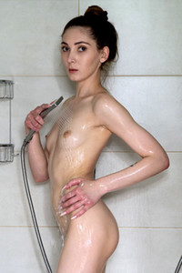 Model Mary Breeze in Shower Play