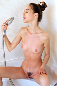 Model Leona Mia in Showered With Pleasure